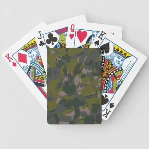 Military camouflage for army soldier Vietnam style Bicycle Playing Cards