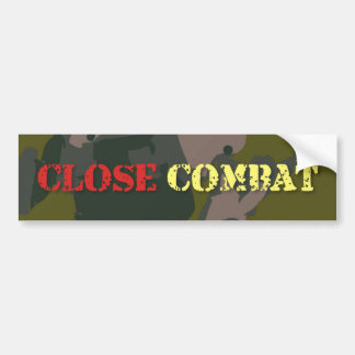 Military camouflage for soldier: close combat war bumper sticker