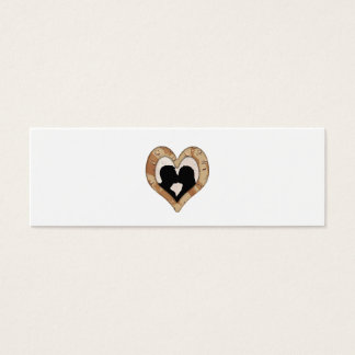 Military Camouflage Heart Couple Silhouette Mini Business Card