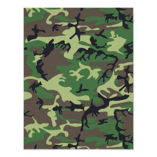 Military Camouflage 11 Cm X 14 Cm Invitation Card