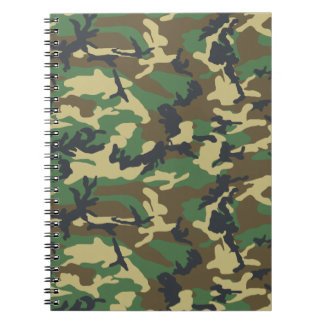 Military Camouflage Notebook