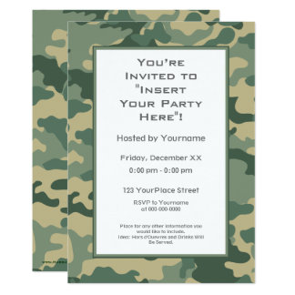 Military Camouflage Party Card