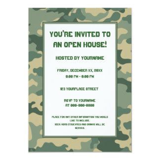 Military/Camouflage Party Invitation