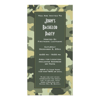 Military Camouflage Party Invitation Picture Card