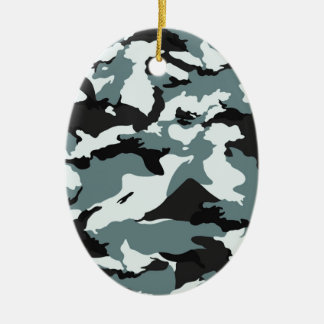 military camouflage pattern ceramic oval decoration
