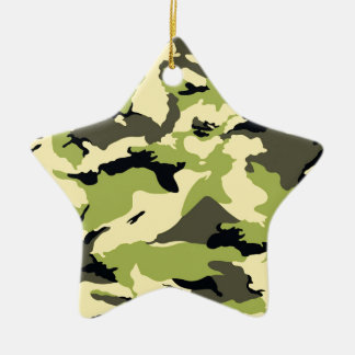 military camouflage pattern ceramic star decoration