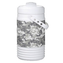 Military Camouflage Pattern - Grey White Igloo Drink Dispenser