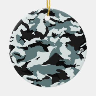 military camouflage pattern round ceramic decoration