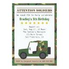 Military Camouflage Pattern Soldier Boy Birthday Card
