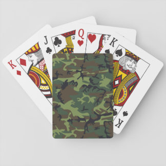 Military Camouflage Pattern, Woodland Style Playing Cards
