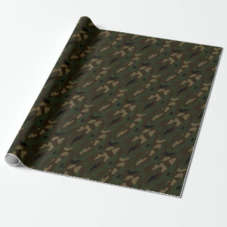 military camouflage pattern wrapping paper