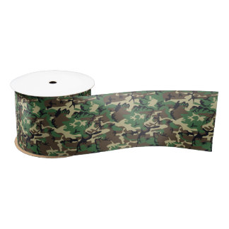 Military Camouflage Satin Ribbon
