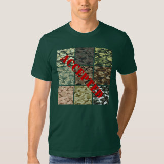 Military camouflage t shirt