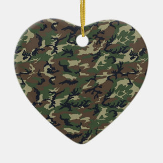 Military Camouflage Woodland Christmas Ornament