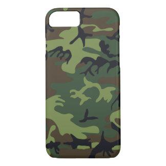 Military Camouflage, Woodland Style, Larger iPhone 8/7 Case