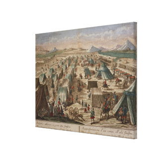 Military camp, c.1780 canvas print