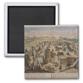 Military camp, c.1780 magnet