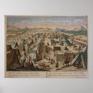 Military camp, c.1780 print