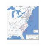 Military Campaigns of the American Revolution Postcards