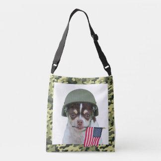 Military Chihuahua Dog Tote Bag