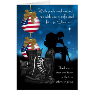 Military Christmas Greeting Card With Pride