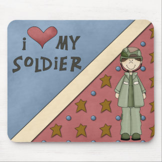 Military Collection Army Soldier Girl Mousepad