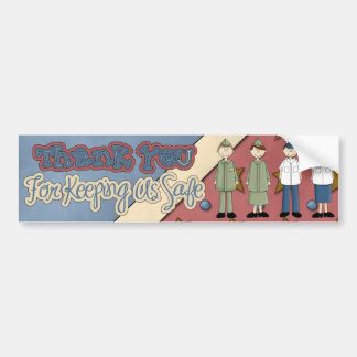 Military Collection THANK YOU SAFE Bumper Sticker
