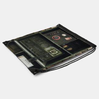 Military Comms Vintage Radio Equipment Drawstring Backpack