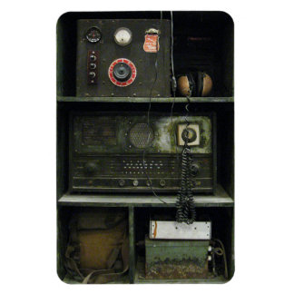 Military Comms Vintage Radio Equipment Rectangle Magnets
