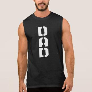 military dad (wht) sleeveless t-shirt
