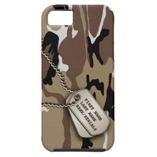 Military Desert Camo w/ Dog Tag Tough iPhone 5 Case