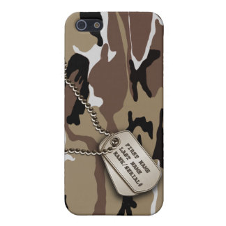 Military Desert Camo w/ Dog Tag Case For The iPhone 5