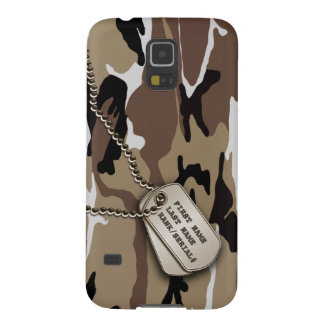 Military Desert Camo w/ Dog Tag Galaxy S5 Cover