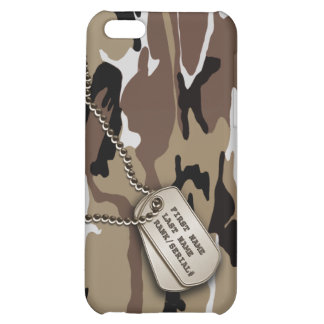 Military Desert Camo w/ Dog Tag iPhone 5C Cover