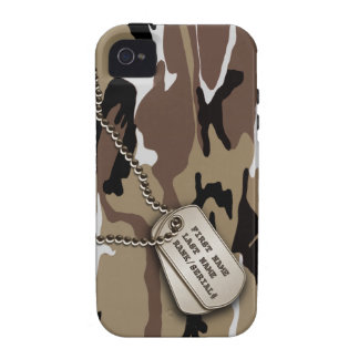 Military Desert Camo w/ Dog Tag Vibe iPhone 4 Cover