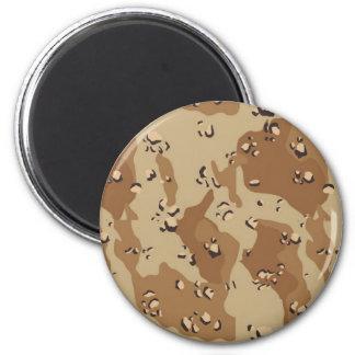 Military Desert Camouflage Background 6 Cm Round Magnet