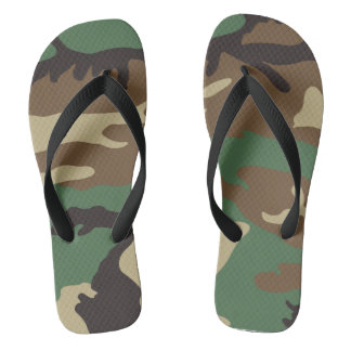 Military Design - Camouflage cool. Flip Flops