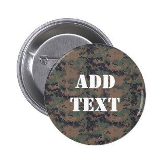 Military Digital Woodland Background 6 Cm Round Badge