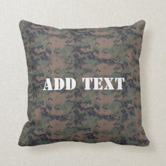 Military Digital Woodland Background Cushion