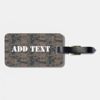 Military Digital Woodland Background Luggage Tag