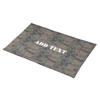 Military Digital Woodland Background Placemat