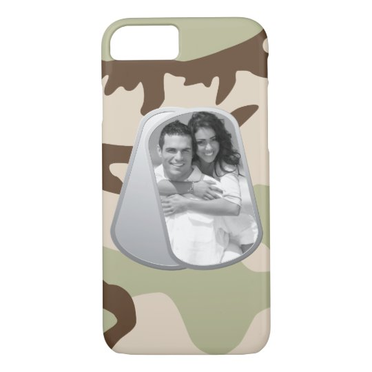 Military Dog Tags and Camouflage Pattern iPhone 8/7