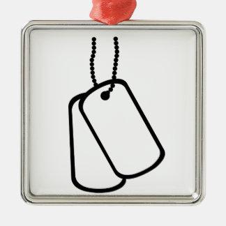 Military Dog Tags. Christmas Ornament