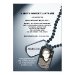 Military Dog Tags Photo Invitations