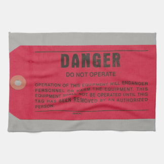 Military Electricians' Danger Tag Tea Towel