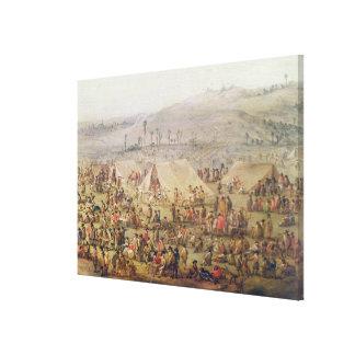 Military Encampment Canvas Print