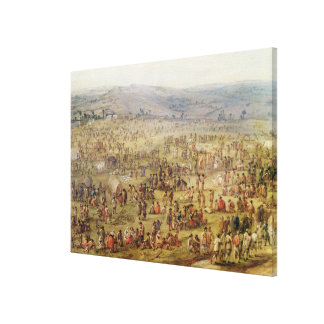 Military Encampment Canvas Print