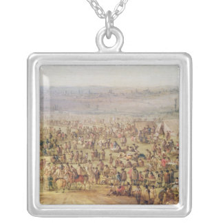 Military Encampment Silver Plated Necklace