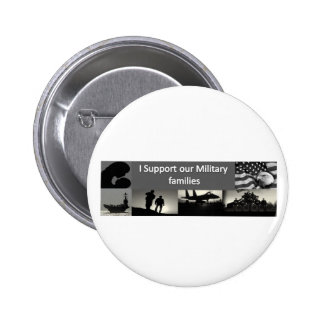 Military Families 6 Cm Round Badge