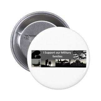Military Families 6 Cm Round Badge
